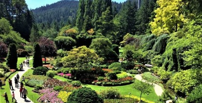 The Sunken Garden at Butchart Gardens — at Kelowna. (3)